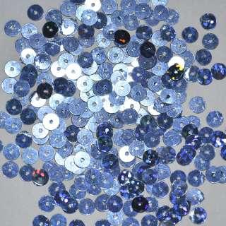 Пайетка голограмма 5мм 25г сине-голубая оптом