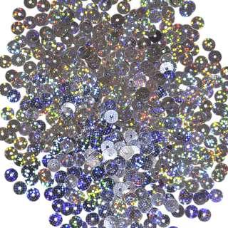 Пайетка голограмма 5мм 25г сине-стальная оптом