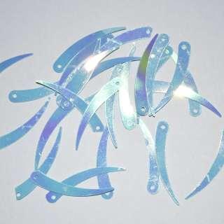 Пайетка хамелеон палочка 32х7мм 25 г сине-фиолетовая оптом