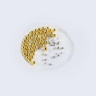 Жемчуг с заклепкой 6мм (50шт/уп) золото оптом