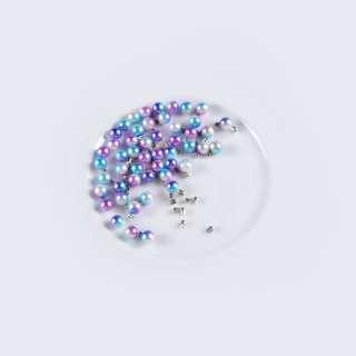 Перли з заклепкою 6мм (50шт/уп) фіолетово-блакитний оптом