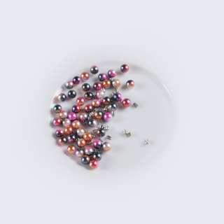 Жемчуг с заклепкой 6мм (50шт/уп) розово-синий оптом