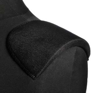 плечевые накладки черные поролон обшитые трикотажем 10*110*165 оптом
