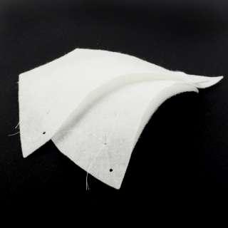 Плечевые накладки нетканный материал 148х218х9 белые (9802) (для женской одежды) оптом