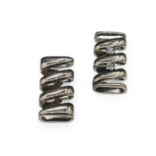 Пряжка неразъемная металл 18мм спиралька 42х20мм никель темный оптом
