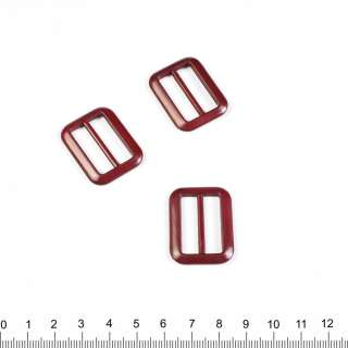 Пряжка 25мм пластик 34х24мм бордо оптом