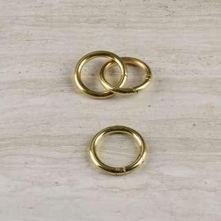 Кільце-карабін метал 34мм золото оптом