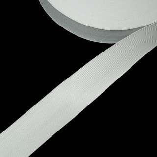 Стрічка еластична 40мм біла оптом