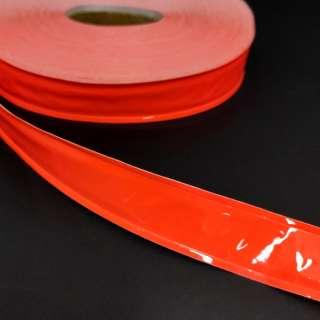 Тесьма светоотражающая 25см оранжевая неон оптом