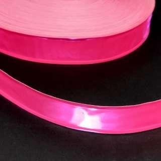 Тесьма светоотражающая 25мм розовая неон оптом