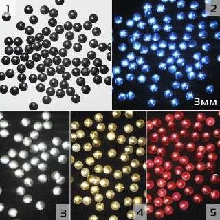 Термостразы металл круглые 5 цветов оптом