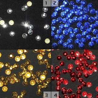 Термостразы металл круглые граненые 4 цвета оптом