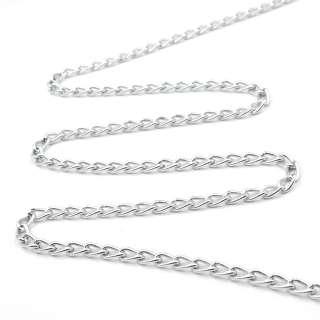 Цепочка металлическая 6х4 мм серебро оптом