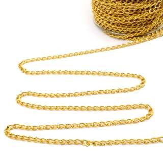 Ланцюжок металевий 6х4 мм золото оптом