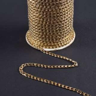 Ланцюжок металевий 10х6 мм золото світле оптом