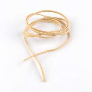 Шнур замша-флок бежевий світлий (1шт / 1м) ширина 3 мм, товщина 0,6 мм оптом