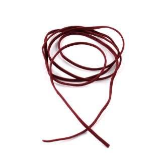Шнур замша-флок бордовий (1шт / 1м) ширина 3 мм, товщина 0,6 мм оптом