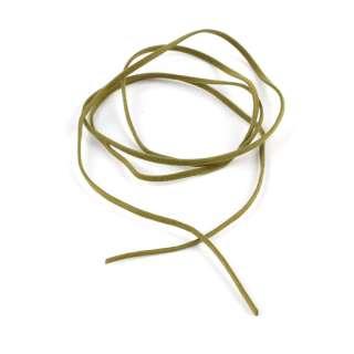 Шнур замша-флок болотний (1шт / 1м) ширина 3 мм, товщина 0,6 мм оптом