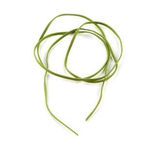 Шнур замша-флок салатовий (1шт / 1м) ширина 3 мм, товщина 0,6 мм оптом