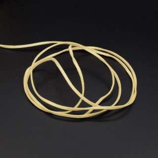 Шнур замшевый 3 мм толщина 1мм желтый оптом
