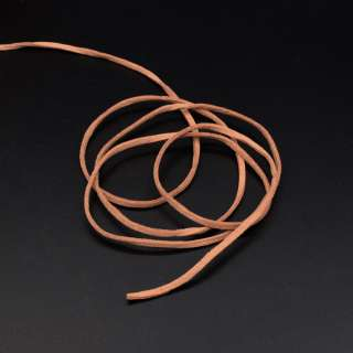 Шнур замшевый 3 мм толщина 1мм коричневый светлый оптом