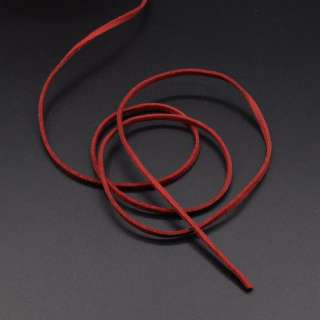 Шнур замшевый 3 мм толщина 1мм красный оптом