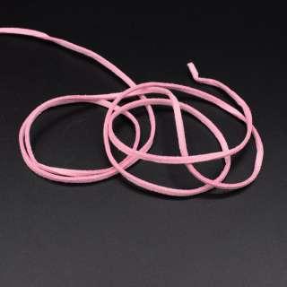Шнур замшевий 3 мм товщина 1мм рожевий оптом