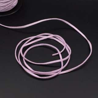 Шнур замшевий 3 мм товщина 1мм бузковий оптом