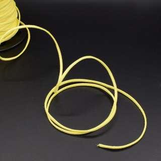 Шнур замшевый 3 мм толщина 1мм лимонный оптом