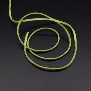 Шнур замшевый 3 мм толщина 1мм оливковый оптом