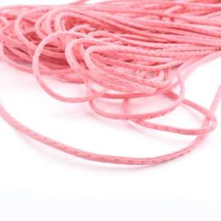 Шнур кожзам 4мм розовый оптом