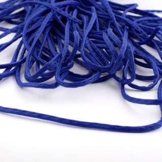 Шнур кожзам 4мм синий оптом