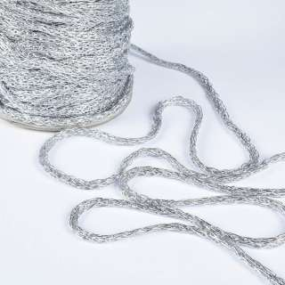 Шнур плетеный 8мм серебро оптом