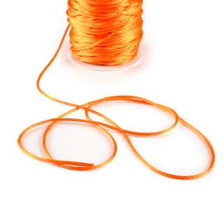 Шнур-сутаж атласный круглый оранжевый оптом