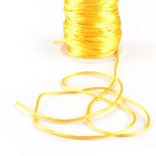 Шнур-сутаж атласный круглый желтый оптом