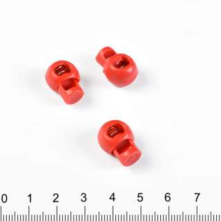 фиксатор красный 1 отв, 10мм, под шнур 4мм оптом