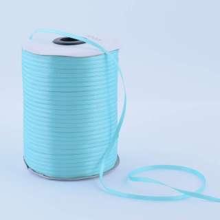 А1-01-011 атласная лента ш 0,3см голубая светлая на метраж (в бобине 880яр/315г оптом