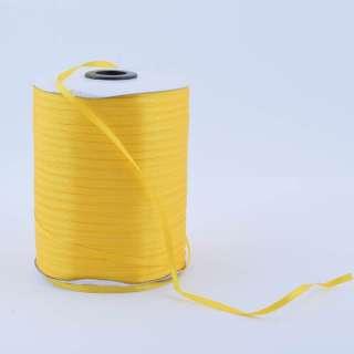 А1-01-016 атласная лента ш 0,3см желтая на метраж (в бобине 880яр/315г оптом
