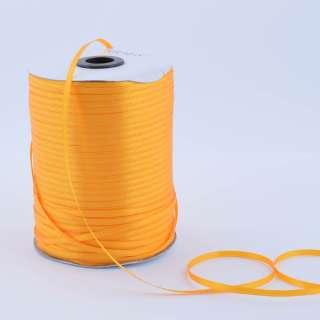 А1-01-017 атласная лента ш 0,3см желтая яркая на метраж(в бобине  880яр/315г оптом