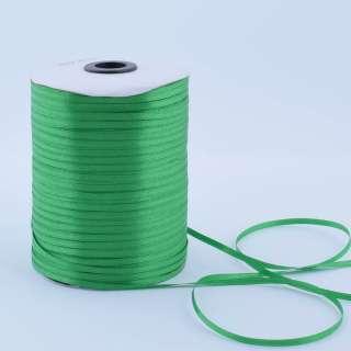 А1-01-019 атласная лента ш 0,3см зеленая на метраж(в бобине  880яр/315г оптом
