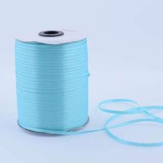 А1-01-020 атласная лента ш 0,3см голубая на метраж (в бобине 880яр/315г оптом