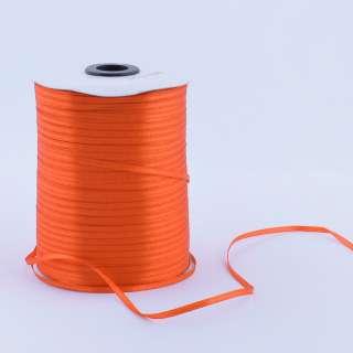 А1-01-025 атласная лента ш 0,3см оранжевая на метраж (в бобине (в бобине 880яр/315г оптом