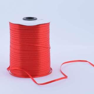 А1-01-026 атласная лента ш 0,3см красная на метраж (в бобине 880яр/315г оптом