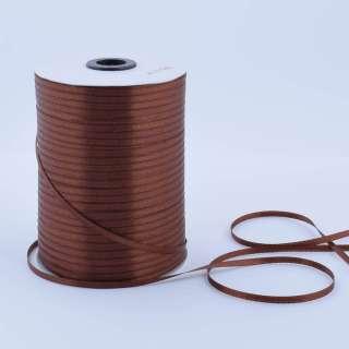 А1-01-032 атласная лента ш 0,3см коричневая на метраж(в бобине  880яр/315г оптом