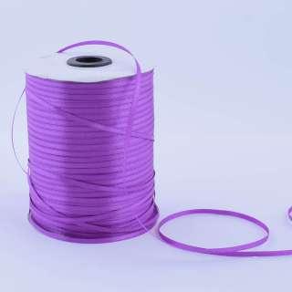 А1-01-035 атласная лента ш 0,3см фиолетовая на метраж(в бобине  880яр/315г оптом
