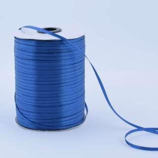 А1-01-038 атласная лента ш 0,3см синяя на метраж (в бобине 880яр/315г оптом