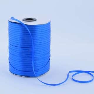 А1-01-040 атласная лента ш 0,3см синяя ультрамарин на метраж(в бобине  880яр/315г оптом
