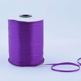 А1-01-046 атласная лента ш 0,3см фиолетовая темная на метраж(в бобине  880яр/315г оптом