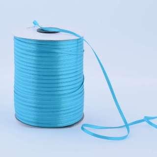 А1-01-047 атласная лента ш 0,3см бирюзовая на метраж (в бобине 880яр/315г оптом
