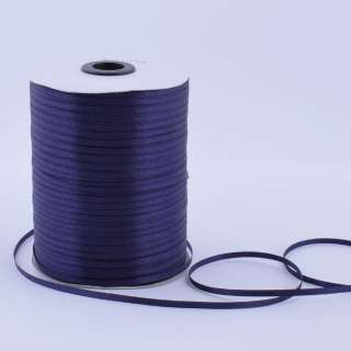 А1-01-072 атласная лента ш 0,3см синяя темная на метраж(в бобине  880яр/315г оптом